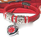 Браслет - Часы Регализ  Красное Сердце