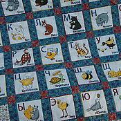 """Для дома и интерьера ручной работы. Ярмарка Мастеров - ручная работа Детское лоскутное одеяло """"Алфавит с животными"""". Handmade."""