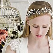 Свадебный салон handmade. Livemaster - original item Wedding wreath, twig hair