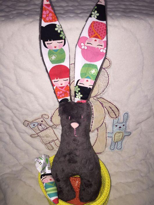 """Игрушки животные, ручной работы. Ярмарка Мастеров - ручная работа. Купить Зайка плюшевый """"Minky"""". Handmade. Яркий, сочные цвета"""