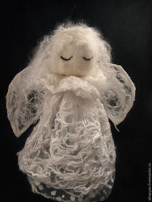 Сказочные персонажи ручной работы. Ярмарка Мастеров - ручная работа. Купить Белый ангел. Handmade. Белый, фигурка ангел купить