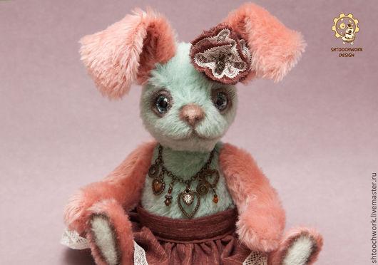 Мишки Тедди ручной работы. Ярмарка Мастеров - ручная работа. Купить Зайка Сьюзи. Handmade. Мятный, коралловый, кролик игрушка