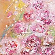 Картины и панно handmade. Livemaster - original item Cream dessert.  Roses. Handmade.
