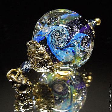 Украшения ручной работы. Ярмарка Мастеров - ручная работа Лунная ночь - кулон лэмпворк. Handmade.