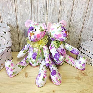Куклы и игрушки ручной работы. Ярмарка Мастеров - ручная работа Текстильный мишка. Handmade.