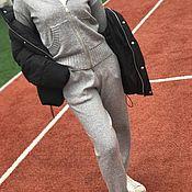 Одежда ручной работы. Ярмарка Мастеров - ручная работа Кашемировый костюм с капюшоном на молнии Серый. Handmade.