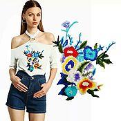 Материалы для творчества handmade. Livemaster - original item Summer Flowers applique, 37h32 cm.. Handmade.