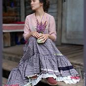 Одежда ручной работы. Ярмарка Мастеров - ручная работа Юбка лиловая. Handmade.