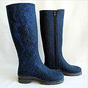 Обувь ручной работы handmade. Livemaster - original item Valenki boots with zipper lock h 35-40. Handmade.