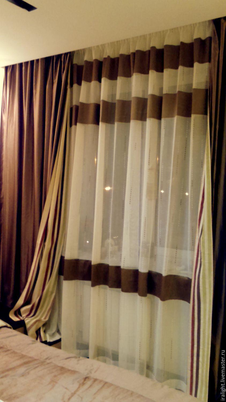 шторы и покрывало в спальню модерн заказать на ярмарке