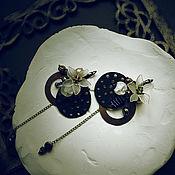Серьги классические ручной работы. Ярмарка Мастеров - ручная работа Серьги классические: серьги с замшей и медными кольцами.. Handmade.