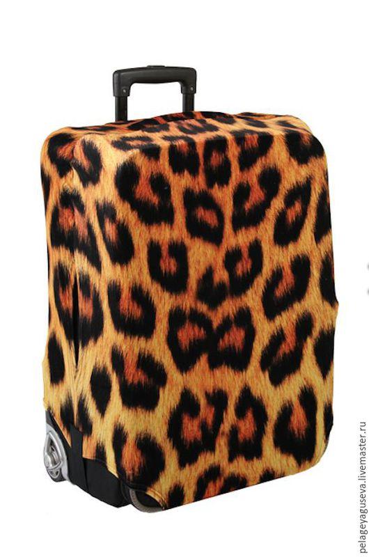 """Чемоданы ручной работы. Ярмарка Мастеров - ручная работа. Купить Чехол на чемодан """"Шкура леопарда"""". Handmade. Чехол, чехол для чемодана"""