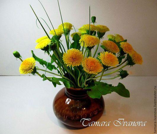 Цветы ручной работы. Ярмарка Мастеров - ручная работа. Купить Одуванчики. Handmade. Букет цветов, эксклюзивный подарок, весенние цветы