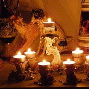 Винтажные сувениры ручной работы. Ярмарка Мастеров - ручная работа Коллекция баварских подсвечников-розочек Винтаж. Handmade.