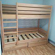 Кровати ручной работы. Ярмарка Мастеров - ручная работа Детская двухъярусная кровать. Handmade.