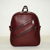 Сумки и аксессуары handmade. Livemaster - original item Burgundy leather backpack