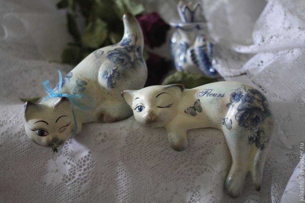 vintage in blue and white (ceramics), Figurines, Sergiev Posad,  Фото №1