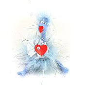 Куклы и игрушки ручной работы. Ярмарка Мастеров - ручная работа игрушка Курочка голубая (пасха, сердце,цыпленок,год петуха). Handmade.