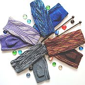 Аксессуары handmade. Livemaster - original item Short fingerless gloves knitted of cotton in the technique of the swing. Handmade.