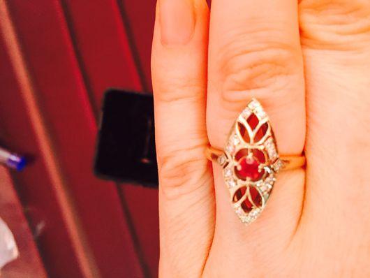 Винтажные украшения. Ярмарка Мастеров - ручная работа. Купить Золотое кольцо советское. Handmade. Золотое кольцо, рубин