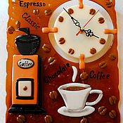 Для дома и интерьера handmade. Livemaster - original item Watch from handmade glass, fusing watch