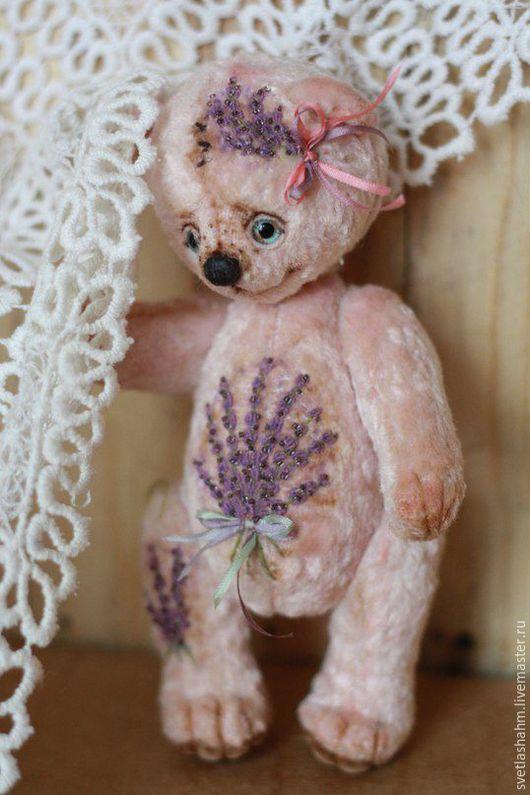 Мишки Тедди ручной работы. Ярмарка Мастеров - ручная работа. Купить Ланочка. Handmade. Бледно-розовый, плюш винтажный