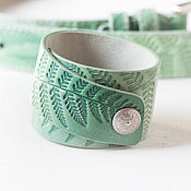 Украшения handmade. Livemaster - original item Menthol leather bracelet. Handmade.