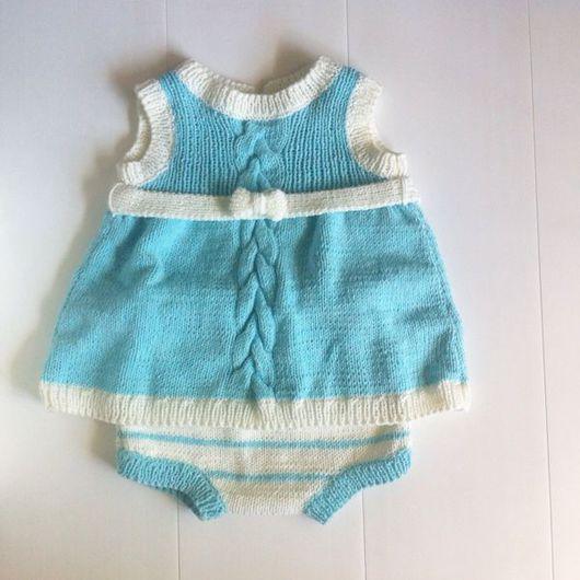 Одежда для девочек, ручной работы. Ярмарка Мастеров - ручная работа. Купить Комплект платье + трусики. Handmade. Комплект