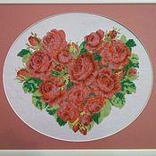 Картины и панно ручной работы. Ярмарка Мастеров - ручная работа Розовое сердце. Handmade.