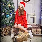 """Одежда ручной работы. Ярмарка Мастеров - ручная работа Вязаный кардиган """"Снегурочку вызывали ?"""" из 100% шерсти. Handmade."""