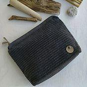 Сумки и аксессуары handmade. Livemaster - original item Men`s cosmetic bag cotton Terry anthracite. Handmade.