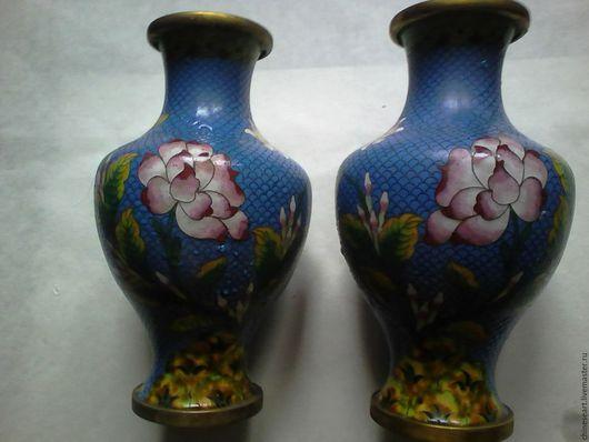 Винтажные предметы интерьера. Ярмарка Мастеров - ручная работа. Купить Парные китайские вазы. Handmade. Ваза, китайский стиль, старина