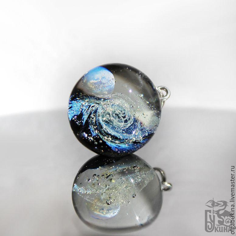 Pendant ball Myriad of stars. Silver. Universe. Space, galaxy. Black, Pendants, Moscow,  Фото №1