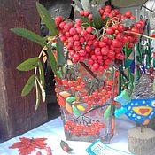 """Для дома и интерьера ручной работы. Ярмарка Мастеров - ручная работа Ваза """"Рябинка"""". Handmade."""
