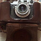 Винтаж ручной работы. Ярмарка Мастеров - ручная работа Фотоаппарат Зоркий с чехлом. Handmade.