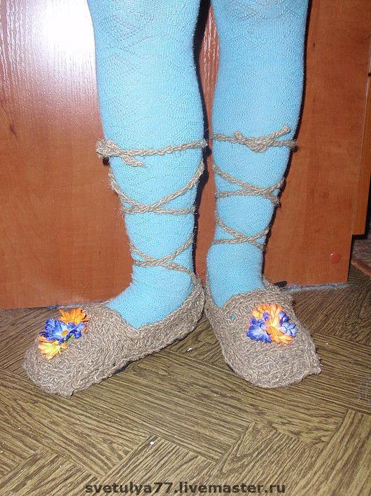 Детская обувь ручной работы. Ярмарка Мастеров - ручная работа. Купить Лапоточки. Handmade. Обувь