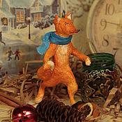 """Куклы и игрушки ручной работы. Ярмарка Мастеров - ручная работа Ватная игрушка """"Хитрый лис пошёл гулять"""". Handmade."""