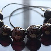 """Necklace handmade. Livemaster - original item Колье """"Черная слива"""" выдувное стекло. Handmade."""