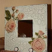 """Для дома и интерьера ручной работы. Ярмарка Мастеров - ручная работа Зеркало-вешалка """" Розы"""". Handmade."""