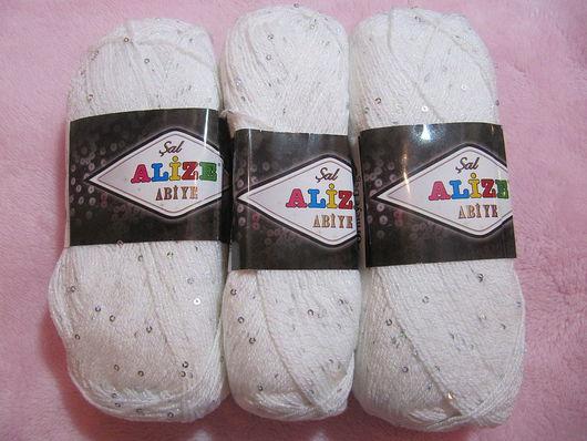 Вязание ручной работы. Ярмарка Мастеров - ручная работа. Купить Пряжа Alize Abiye. Handmade. Акрил