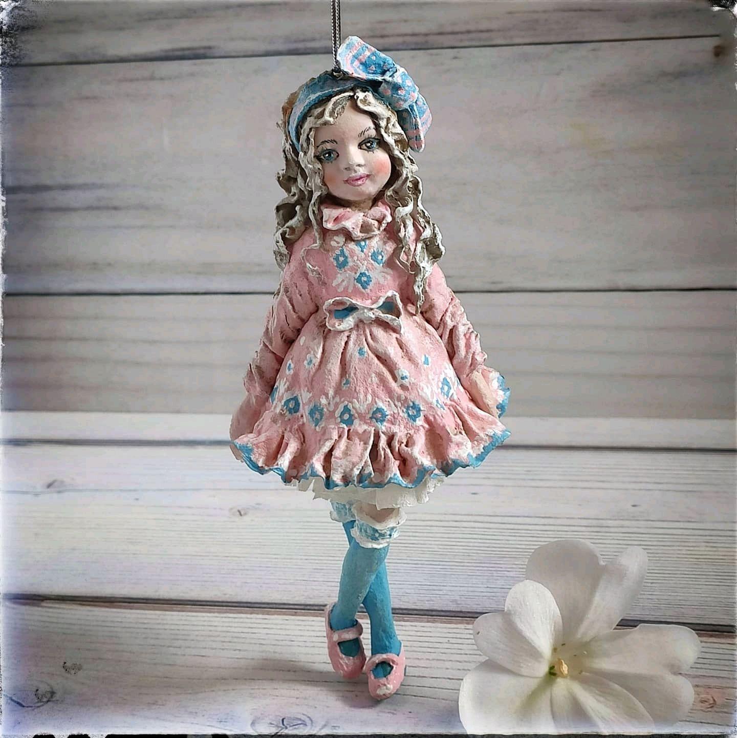 Модница. Ёлочная ватная игрушка, Игрушки, Дзержинск,  Фото №1