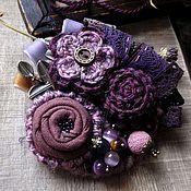 Материалы для творчества handmade. Livemaster - original item Schemes for knitting: MK for textile brooches. Handmade.