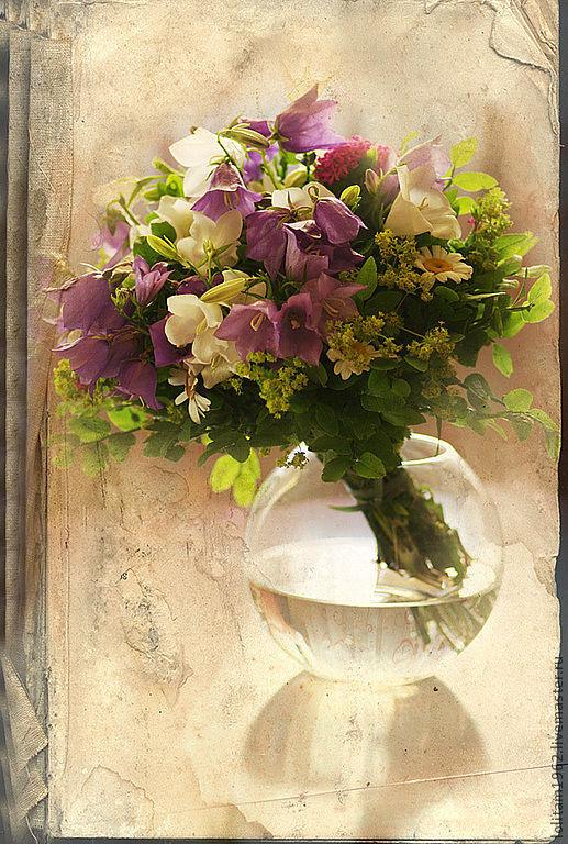 Фотокартины ручной работы. Ярмарка Мастеров - ручная работа. Купить Цветы как бабочки, а бабочки - цветы. Handmade. Бежевый