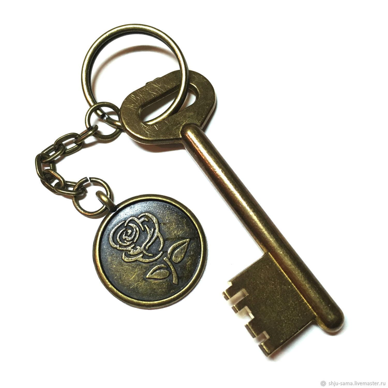 Брелок для ключей Роза, брелок для сумки