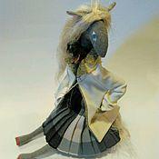 Куклы и игрушки ручной работы. Ярмарка Мастеров - ручная работа Лошадка в лимонном пальто. Handmade.