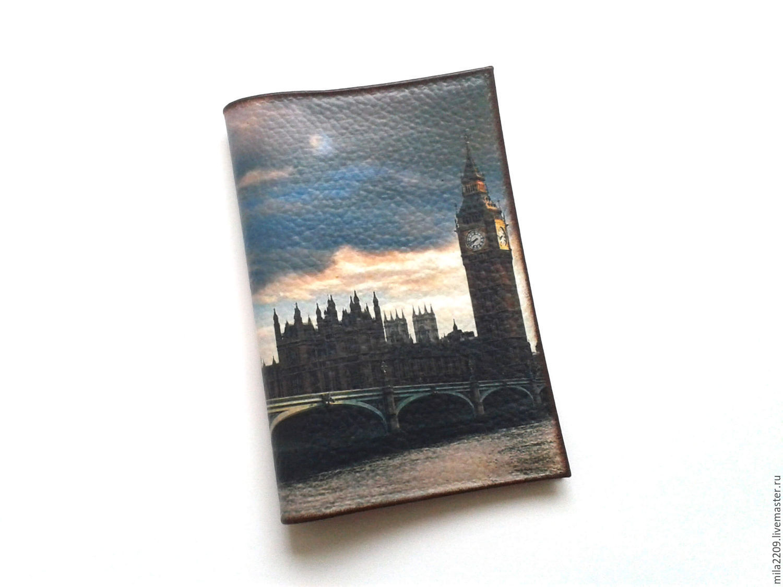 Обложка на паспорт ЛОНДОН, из натуральной кожи, Обложки, Курган, Фото №1