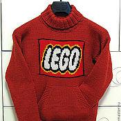 """Работы для детей, ручной работы. Ярмарка Мастеров - ручная работа Свитер """"Лего"""".. Handmade."""