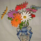 Цветы и флористика ручной работы. Ярмарка Мастеров - ручная работа Разноцветные ромашки. Handmade.