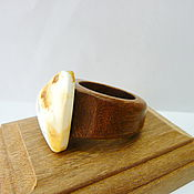 Украшения handmade. Livemaster - original item Ring amber 17 size P-037. Handmade.
