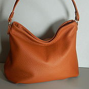 Сумки и аксессуары handmade. Livemaster - original item Bag leather women`s Bag hobo red. Handmade.